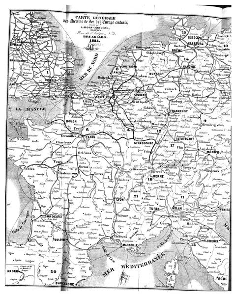 Carte Deurope Pdf.File Carte Generale Des Chemins De Fer De L Europe Centrale