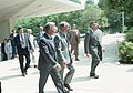 Carter t CIA Headquarters with DCI Turnerand National Security Advisor, Zbigniew Brzezinski (10729728623).jpg