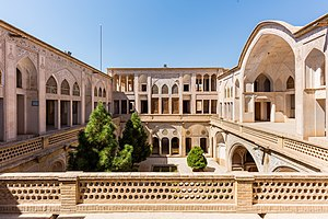 Abbāsi House - Panoramic view of one of the courtyards.