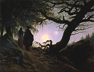 Two Men Contemplating the Moon - Man and Woman Contemplating the Moon, Alte Nationalgalerie, 1835
