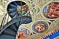 Castello ducale di Corigliano C. ,scala a chiocciola torre con dipinti.JPG