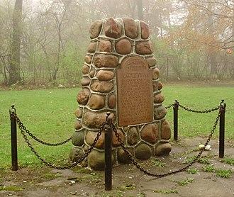 Castle Frank station - Castle Frank historical marker