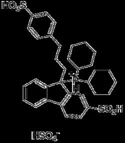 Struktur von CataCXium F sulf