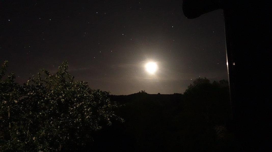 La Lune se lève, la Caussade, Alzen, Ariège.