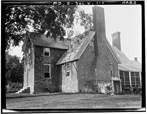 National Register of Historic Places listings in Calvert County, Maryland - Image: Cedar Hill 1936