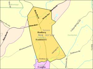 Hamburg, New Jersey - Image: Census Bureau map of Hamburg, New Jersey
