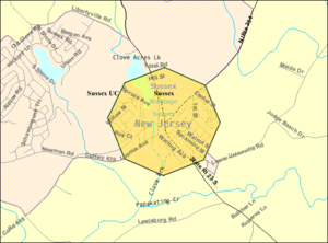 Sussex, New Jersey - Image: Census Bureau map of Sussex, New Jersey