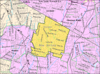 Upper Saddle River, New Jersey - Image: Census Bureau map of Upper Saddle River, New Jersey