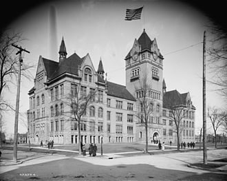 Central High School (Detroit) - Central High School in 1904; this building is now Old Main at Wayne State University