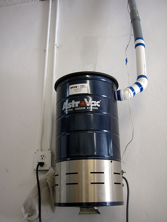 Typical Central Vacuum Cleaner Unit For Residential Use North America