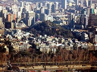 Santa Lucía Hill hill in Santiago, Chile