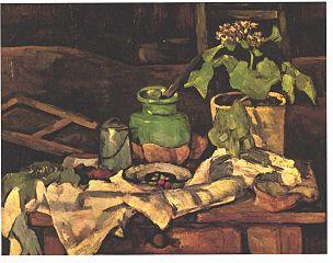 Pot de fleurs sur une table