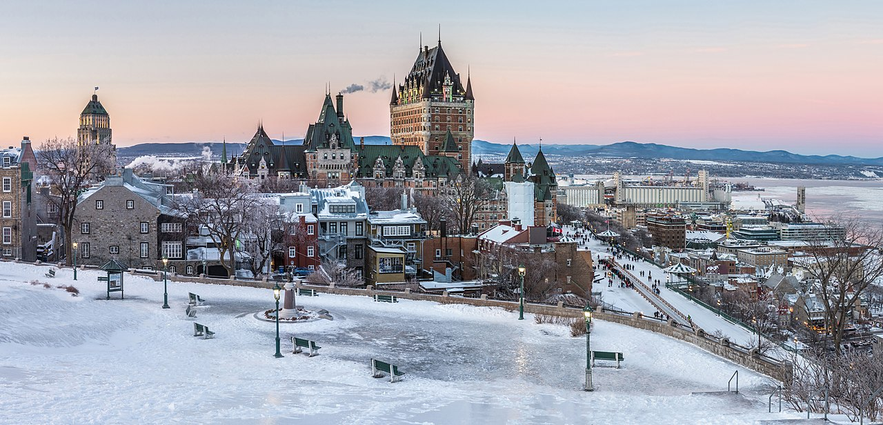 the Chateau Frontenac hotel in Quebec City at winter