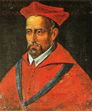Charles de Bourbon (cardinal) - Portrait of Charles de Bourbon by an anonymous artist, 16th century.