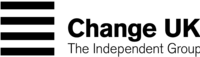 Logo of Change UK – The Independent Group, April 2019