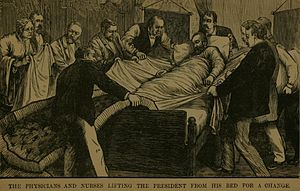 Bed sheet - Changing James Garfield's bedclothes after his shooting