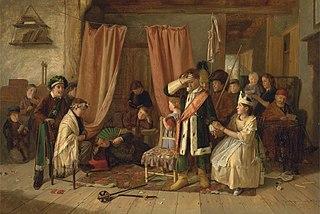 Children acting the Play Scene from Hamlet