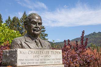 Charles Lee Tilden - Bust of Charles Lee Tilden outside the Brazilian Room in Tilden Park