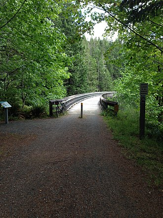Galloping Goose Regional Trail - Image: Charters Creek Trestle on the Galloping Goose Trail panoramio