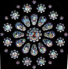 rosace du jugement dernier de Chartres