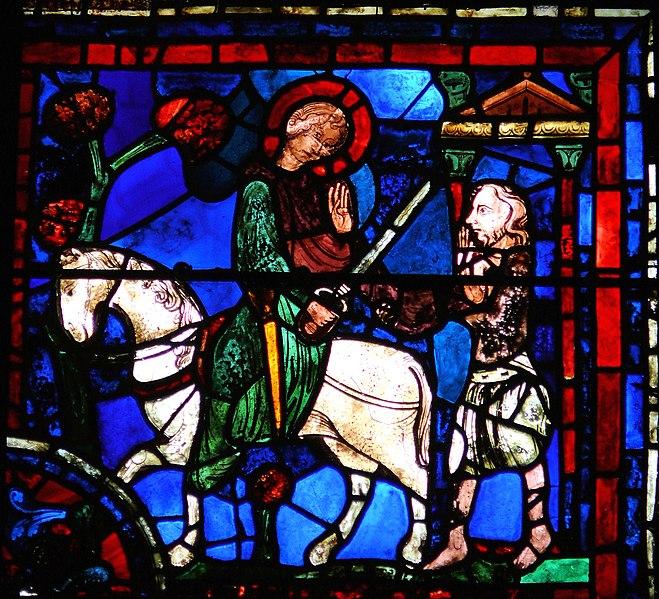 File:Chartres - Vitrail de la Vie de saint Martin - Charité.JPG