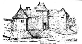 Château de Bucey-en-Othe - The castle in 1743