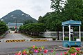 Cheongwadae with guard.jpg