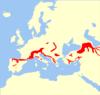 Chionomys nivalis range Map