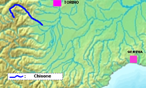 Chisone - Image: Chisone location
