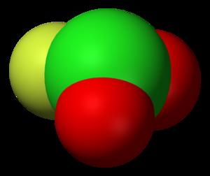Chloryl fluoride - Image: Chloryl fluoride 3D vd W