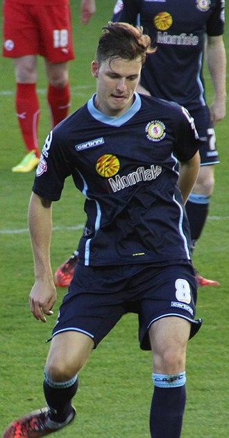 Chris Atkinson (footballer) - Atkinson playing for Crewe Alexandra in 2014