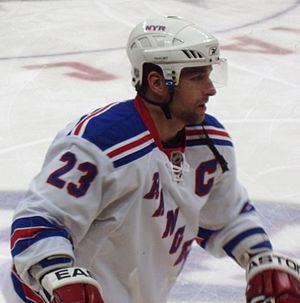 Chris Drury - Drury with the New York Rangers during the 2008-09 season