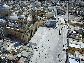 Paola, Malta - Paola square and Church of Christ the King