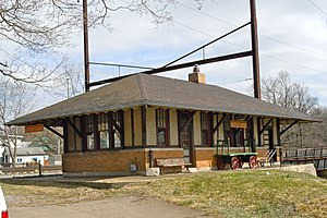 Christiana, Pennsylvania - The Christiana railroad depot, constructed by the Pennsylvania Railroad