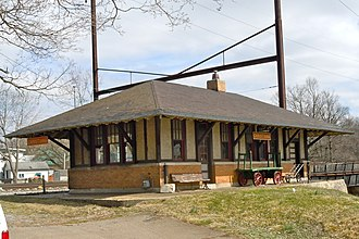 Christiana, Pennsylvania - The Christiana railroad depot, constructed by the Pennsylvania Railroad