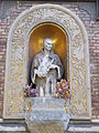 Church of Saint Francis of Assisi of Ferencváros. Listed ID 1026. Statue of St Francis of Assisi. - Bakáts tér, Budapest District IX.JPG