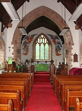 Church of St.Peter and St. Illtyd, Llanhamlach - interior - geograph.org.uk - 1384232.jpg