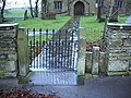 Church of St Mary the Virgin, Thornton-in-Craven, Gate and stile - geograph.org.uk - 623672.jpg