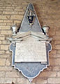 Church of St Nicholas, Carlton Scroop - Peachell wall memorial.jpg