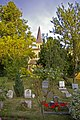 Churchyard, Christ Church, Cockfosters, Hertfordshire - geograph.org.uk - 870191.jpg