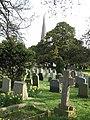 Churchyard, St. John the Baptist, Lea - geograph.org.uk - 724497.jpg