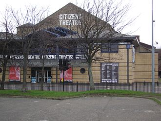 Citizens Theatre - Exterior of the Glasgow Citizens' Theatre from Gorbals Street