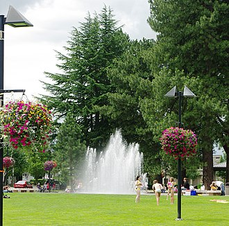 Beaverton City Fountain Park - The signature fountain at the park