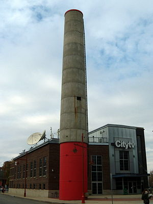 City (TV network) - Citytv Building at The Forks, in Winnipeg, Manitoba.