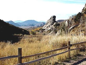 Albion Mountains - Image: City of Rocks Idaho North Fork Trailhead NPS