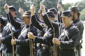1st Oregon Volunteer Infantry Regiment - Civil War infantry reenactment at Fort Vancouver
