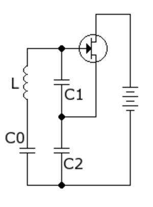 Clapp oscillator - Clapp oscillator (direct-current biasing network not shown)