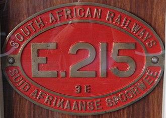 South African Class 3E - Image: Class 3E E215 ID
