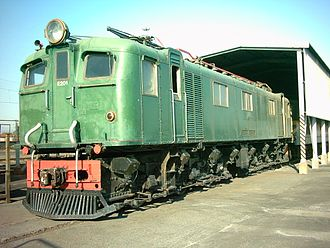 South African Class 3E - No. E201 at Bellville Loco, Cape Town, 29 April 2004