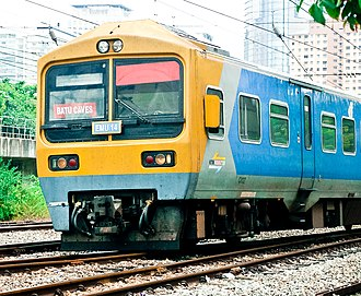 KTM Komuter - Image: Class 81 KTM EMU 14 Komuter train, KL sentral Kuala Lumpur